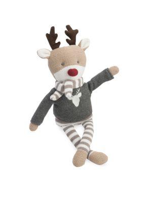 Knit Cotton Reindeer Toy