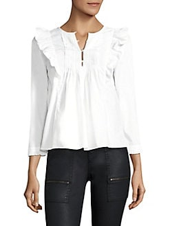 4d2d4130941152 Joie. Adelheid Cotton Ruffled Blouse