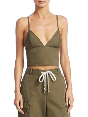 Cargo Cotton Bra Top by T By Alexander Wang