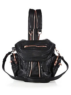 f4103bc61f7cb Mini Marti Leather Backpack BLACK. QUICK VIEW. Product image