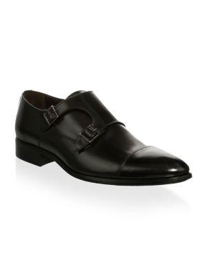 Bankston Cap Toe Double Strap Monk Shoe, Black