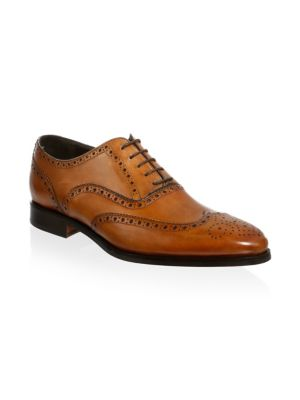 Ambler Leather Wingtip Oxfords, Cognac