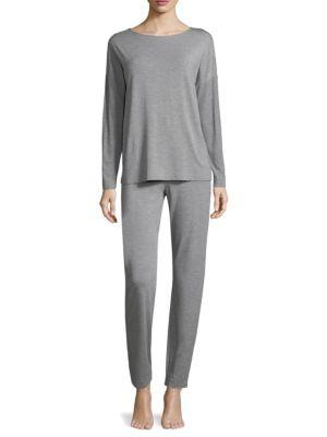 Hanro Natural Elegance Long Sleeve Pajamas
