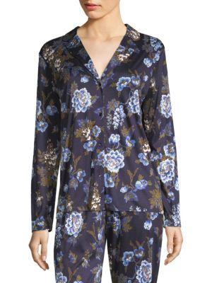Zahra Floral Long-Sleeve Sleepwear Top, Big Flower