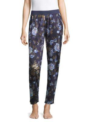 Zahra Floral Sleepwear Pants, Big Flower