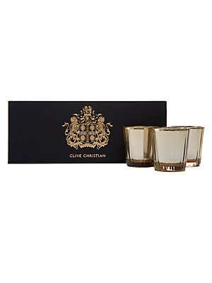 Image of Deeply sensual and alluring, the warm, creamy and distinctly aromatic notes from the X perfumes captivate as a tempting candle trio. Set of three Burn time: 22 hours Made in UK SPECIFICATIONS 3 x 2.1 oz. Fragrances - Clive Christian > Saks Fifth Avenue. C