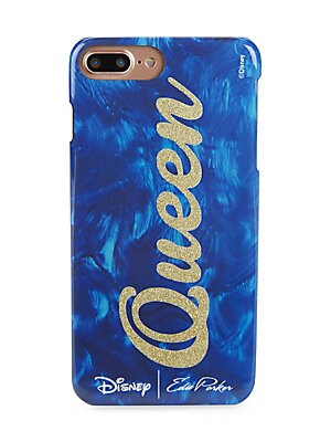 """Image of From the Disney Collection Glossy iPhone case with shimmering lettered design Fits iPhone 6 Plus, 6S Plus, or 7 Plus 3.25""""W x 6.25""""H x 0.3""""D Polyurethane/epoxy Imported. Handbags - Evening Handbags > Saks Fifth Avenue. Edie Parker."""