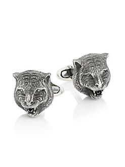 e78e923db776 Gucci. Tiger Sterling Silver Cufflinks