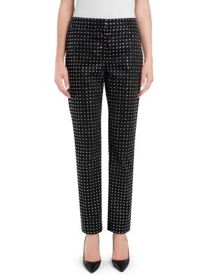 Studded Satin Pants in Black from MOSCHINO