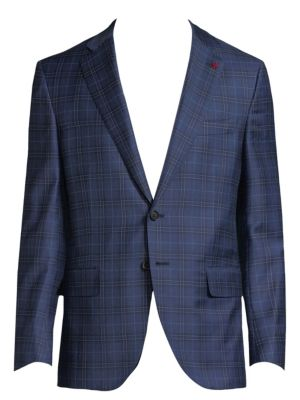 Isaia  Sanita Plaid Jacket