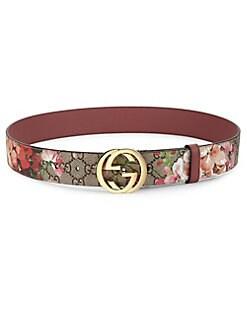 380e863757e Gucci. Floral Logo Print Belt