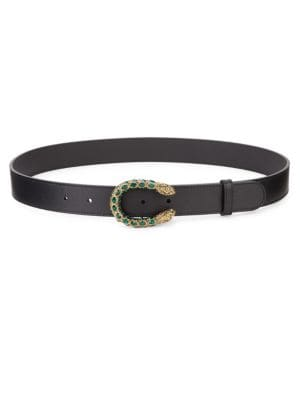 Dionysus Leather Crystal Belt by Gucci