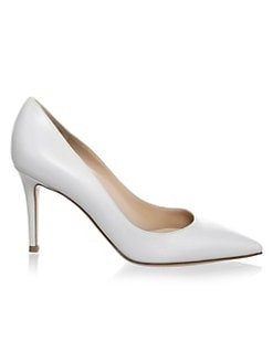 3ba0a3d8bc9d Gianvito Rossi. Point Toe Leather Pumps