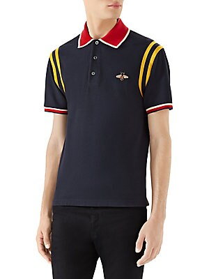 a73ce56a Gucci - Cotton Polo with Bee - saks.com
