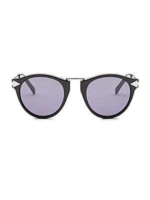 52a93282c8f Karen Walker - Bounty 47MM Round Sunglasses - saks.com