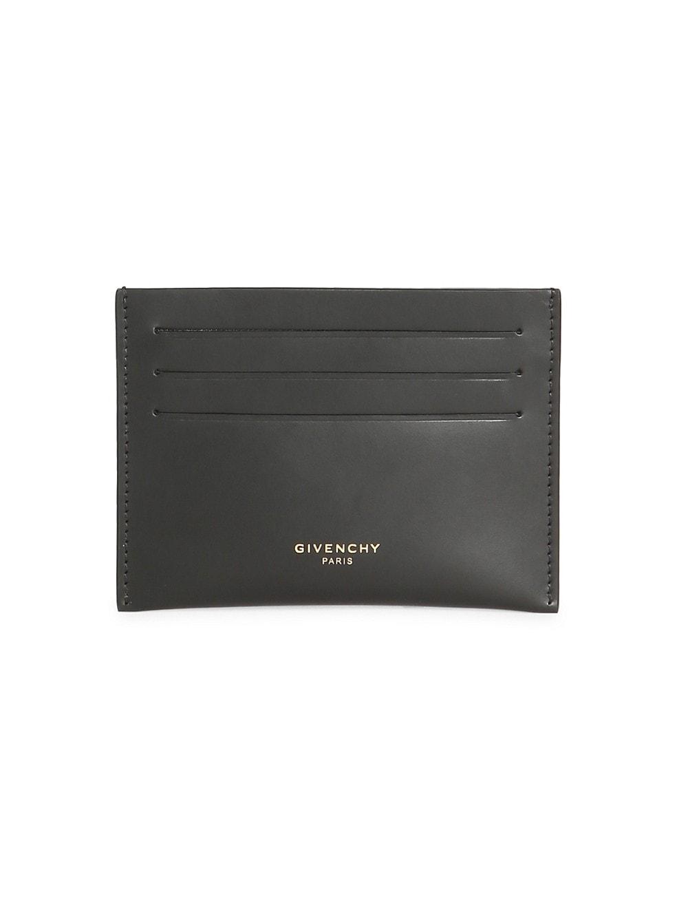 지방시 Givenchy Leather Card Case,BLACK
