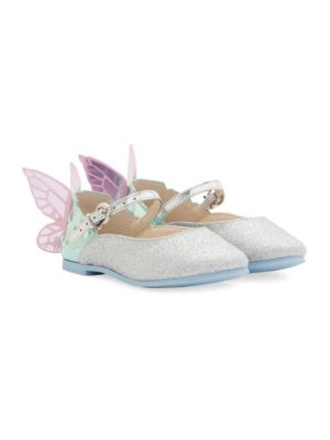 Babys Toddlers  Kids Chiara Mini Silver Butterfly Shoes