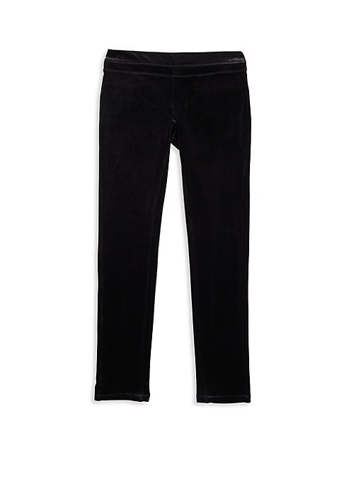 Image of Banded pants featuring a textured finish. Banded waist. Back welt pockets. Polyester/spandex. Machine wash. Imported.