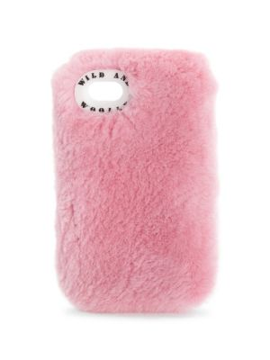 WILD AND WOOLLY Beaver Fur Iphone 7 Case in Pink