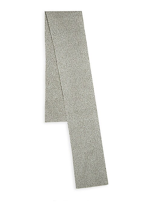 Image of Solid long scarf constructed of textured fabric. Acrylic/wool. Dry clean. Imported.