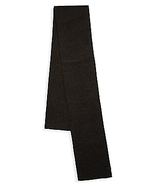Image of Solid long scarf constructed of textured fabric Acrylic/wool Dry clean Imported. Men Accessories - Fashion Accessories > Saks Fifth Avenue. Bickley + Mitchell. Color: Black Twist.