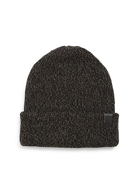 Image of Wool-blend beanie made for extra warmth and comfort. Wool/acrylic. Dry clean. Imported.