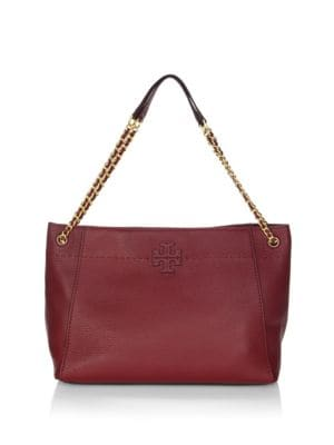 Mc Graw Leather Slouchy Tote by Tory Burch