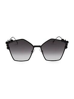 1f7577aef09 Fendi. 57MM Embellished Pentagon Sunglasses