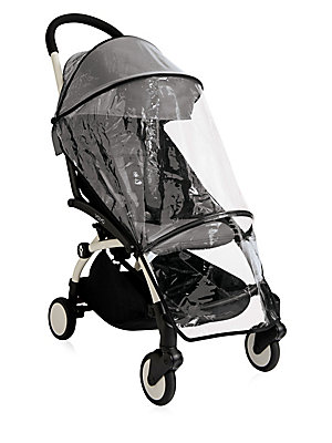 Image of From the YOYO+ Collection. Designed to go anywhere, this durable rain cover folds easily and boasts easy Velcro attachments for your BabyZen stroller. Compatible with BabyZen 6+ stroller Foldable Comes with travel pouch Velcro attachments Polyurethane Han