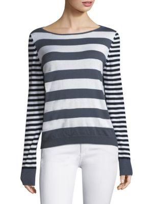 Max Mara Cashmeres Striped Silk & Cashmere Sweater