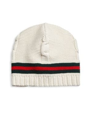 Liom Cable Knit Beanie - White