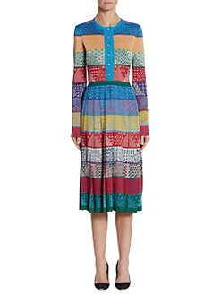 Mary Katrantzou. Cecile Colorblock Sparkle Dress