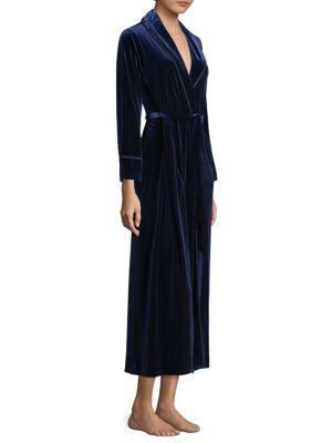 JONQUIL Hampton Court Velvet Robe in Navy