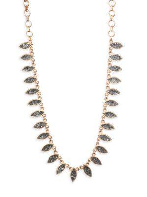 SHANA GULATI Nayika Frontal Necklace in Yellow Gold