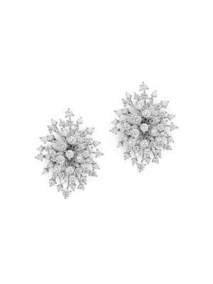 Hueb Women's Luminus 18k White Gold & Diamond Starburst Earrings