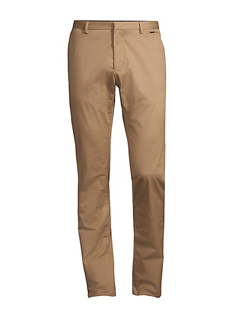 """Image of Timeless pants crafted from a stretch cotton and boasting a slim fit. Belt loops. Zip fly with hook closure. Side slash pockets. Back buttoned welt pockets. Cotton/elastane. Machine wash. Imported. SIZE & FIT. Slim fit. Rise, about 10"""".Inseam, about 34"""".L"""