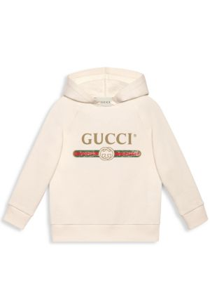 Kid's Cotton Hooded Sweater by Gucci