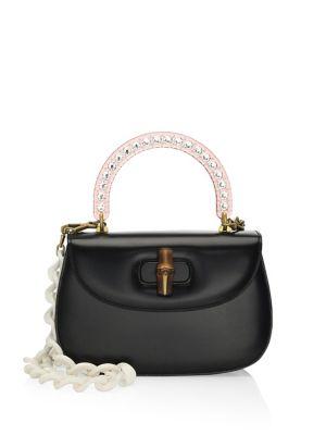 GUCCI Medium Classic 2 Top Handle Shoulder Bag - Black