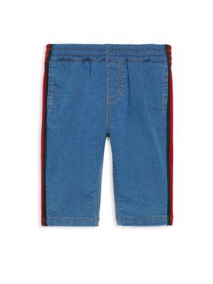 Baby Boy Stripe Trim Jeans