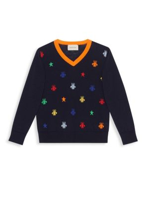 Little Boys  Boys Bee Print Sweater