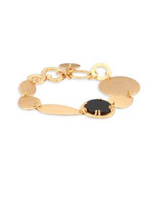 STEPHANIE KANTIS Oval Chain Bracelet in Yellow Gold