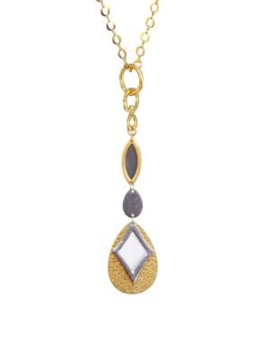 STEPHANIE KANTIS Paris Long Drop Necklace in Yellow Gold