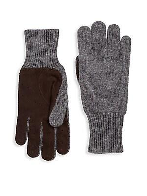 Brunello Cucinelli - Cashmere Suede Rib-Knit Gloves 548ec88007ca