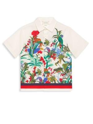 Boys Floral Printed ButtonDown