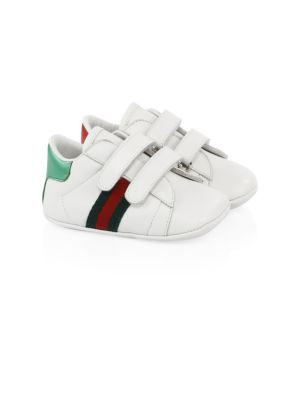 Gucci Baby Girl S Leather Grip Tape Sneakers