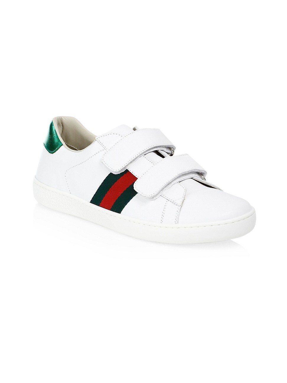 GUCCI KID'S NEW ACE LEATHER SNEAKERS
