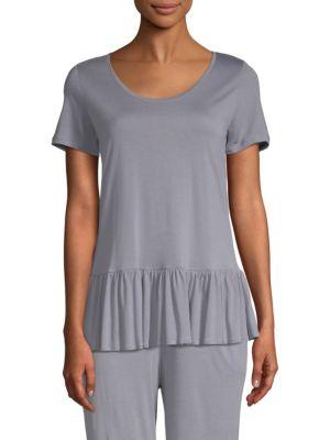 c1a0246a47 Hanro - Malva Short-Sleeve Flounce Top