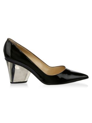 Paul Andrew  Lotta Point Toe Leather Pumps