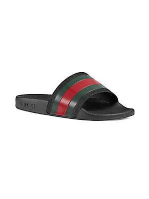 Gucci - Kid's Striped Slide Sandals - saks.com