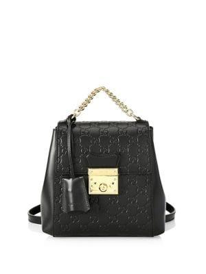 2638eaf8df92be Shoptagr | Padlock Canvas Backpack by Gucci